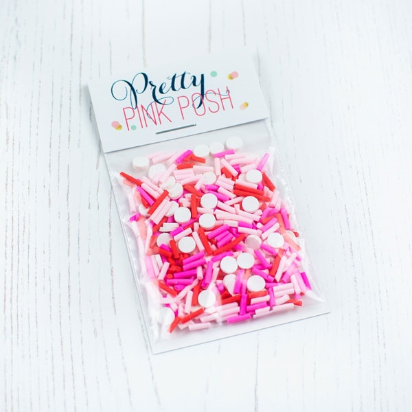 Pretty Pink Posh BE MY VALENTINE Clay Sprinkles zoom image