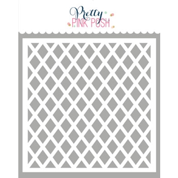 Pretty Pink Posh LATTICE Stencil
