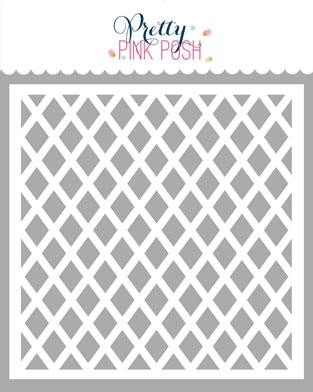 Pretty Pink Posh LATTICE Stencil  zoom image