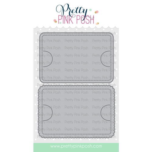 Pretty Pink Posh STITCHED GIFT CARD HOLDER Dies  Preview Image