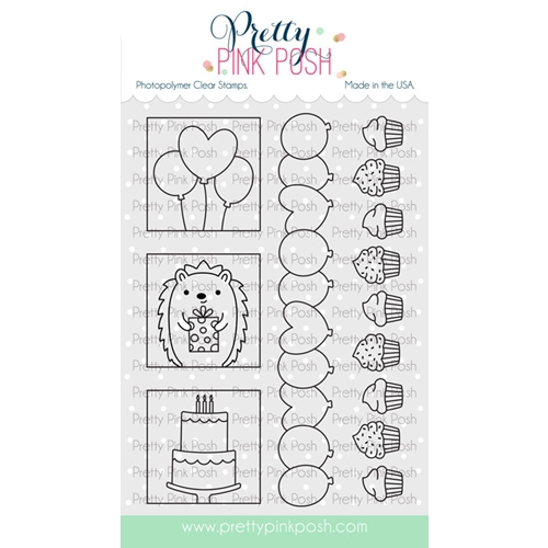 Pretty Pink Posh PARTY DAYS Clear Stamps  Preview Image