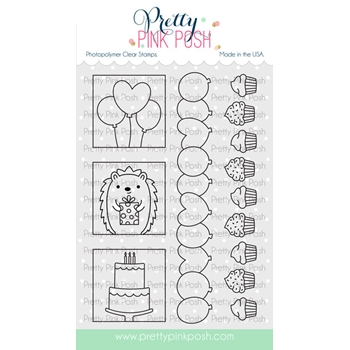 Pretty Pink Posh PARTY DAYS Clear Stamps