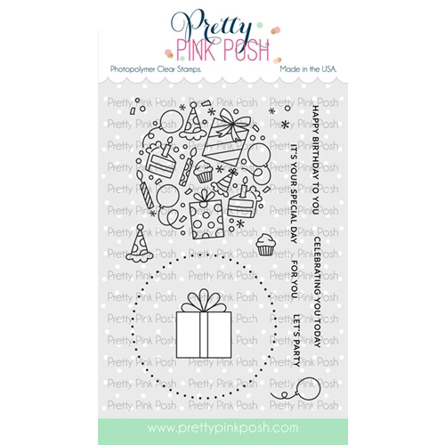 Pretty Pink Posh LET'S PARTY Clear Stamps Preview Image