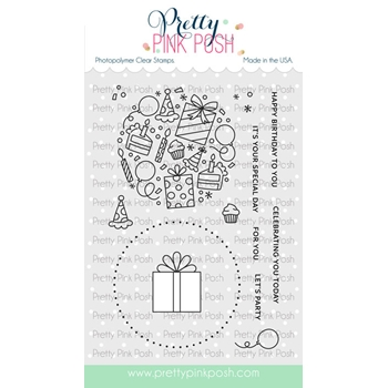 Pretty Pink Posh LET'S PARTY Clear Stamps