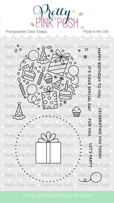 Pretty Pink Posh LET'S PARTY Clear Stamps zoom image