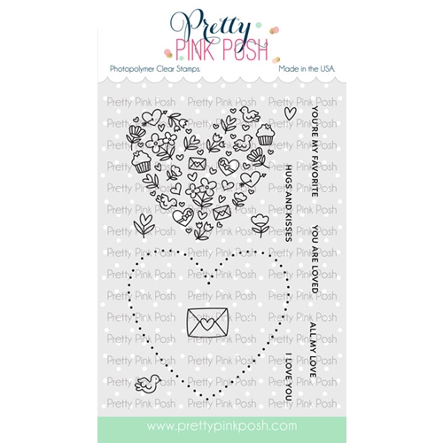 Pretty Pink Posh ALL MY LOVE Clear Stamps Preview Image