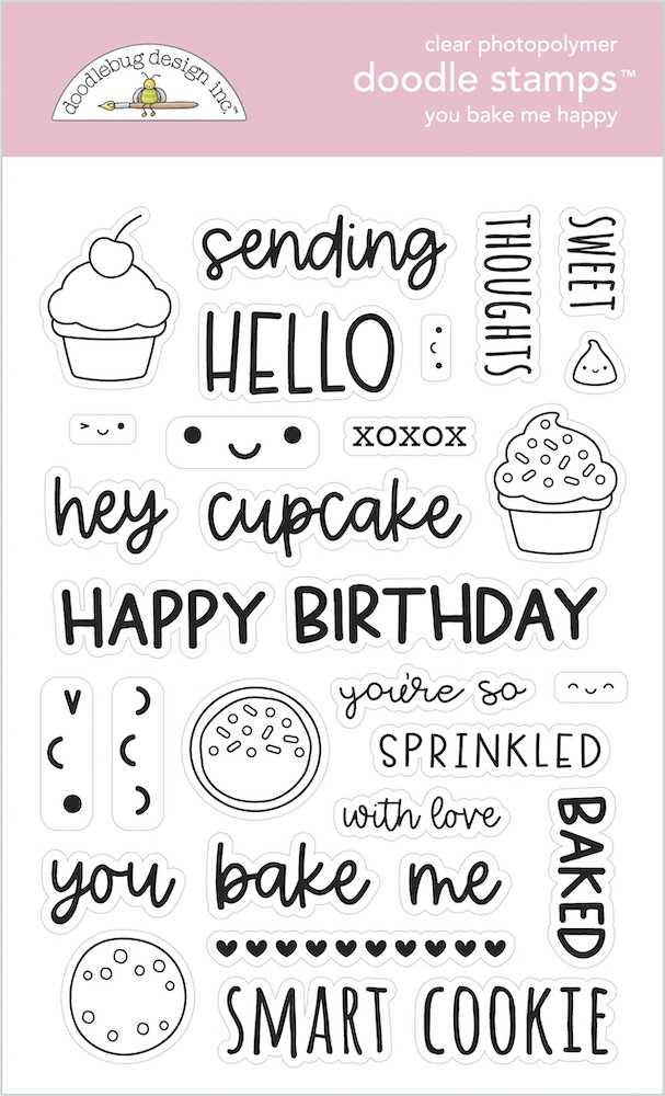 Doodlebug YOU BAKE ME HAPPY Clear Stamps 7106 zoom image
