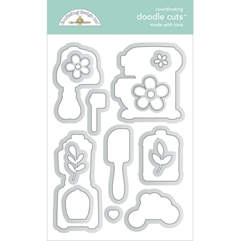 Doodlebug MADE WITH LOVE Doodle Die Cuts 7105