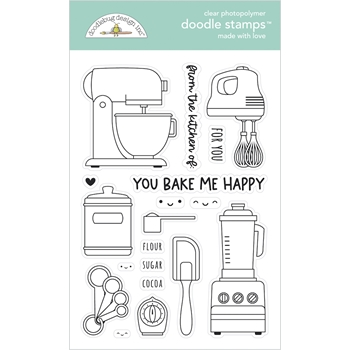 Doodlebug MADE WITH LOVE Clear Stamps 7104