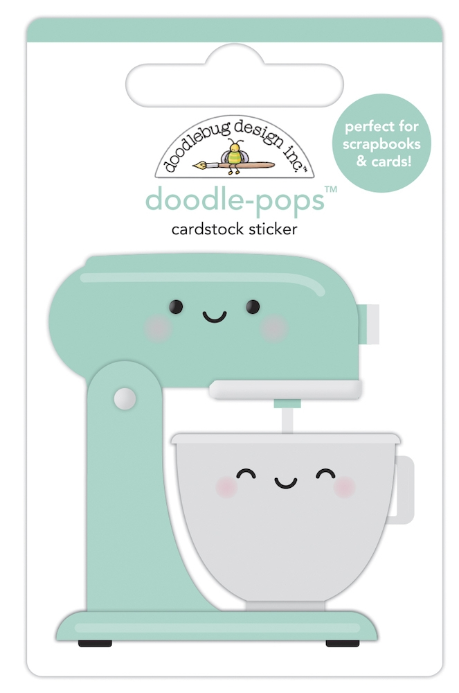 Doodlebug MIXED WITH LOVE Doodle Pops 3D Sticker 7095 zoom image