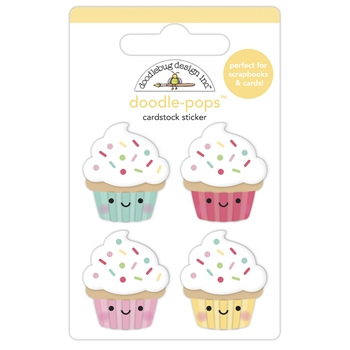 Doodlebug BABY CAKES Doodle Pops 3D Stickers 7102