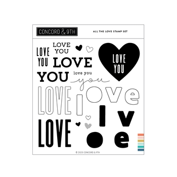 Concord & 9th ALL THE LOVE Clear Stamp Set 11031