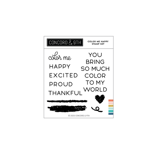 Concord & 9th COLOR ME HAPPY Stamp Set 11037 Preview Image