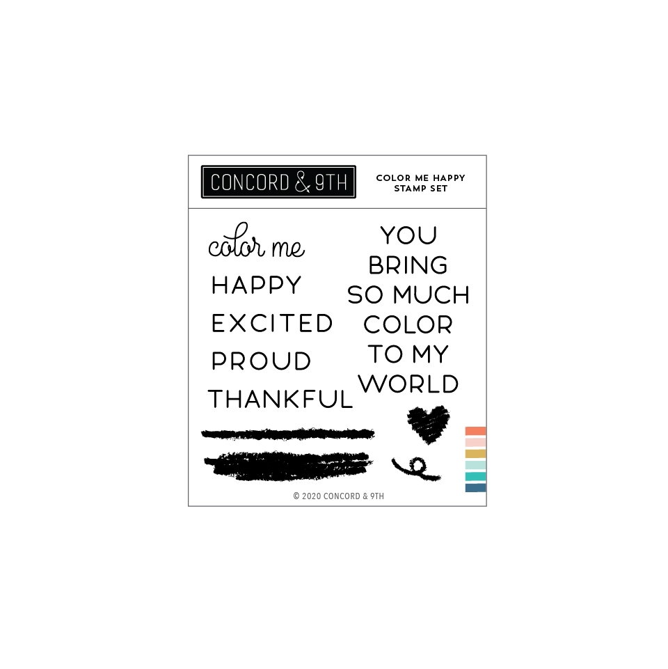 Concord & 9th COLOR ME HAPPY Stamp Set 11037 zoom image