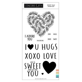 Concord & 9th SWEET TALK Clear Stamp Set 11044