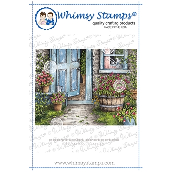 Whimsy Stamps OPEN DOOR Rubber Cling Stamp DA1155