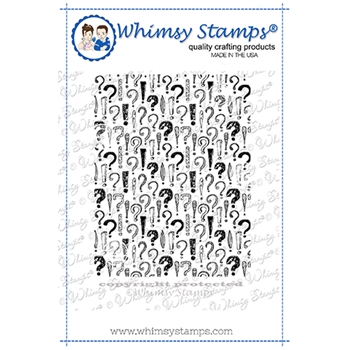 Whimsy Stamps EXPLANATION BACKGROUND Rubber Cling Stamp DDB052