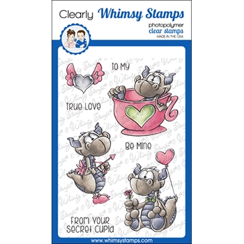 Whimsy Stamps DUDLEY'S VALENTINE Clear Stamps DP1057