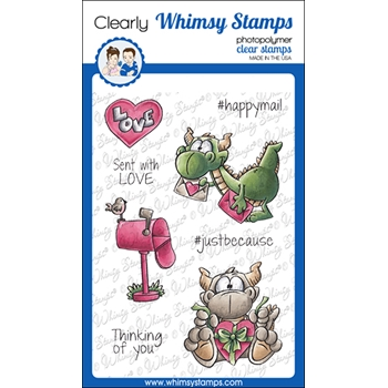 Whimsy Stamps DUDLEY'S MAILED WITH LOVE Clear Stamps DP1058