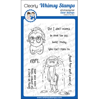 Whimsy Stamps NOPE Clear Stamps CWSD355