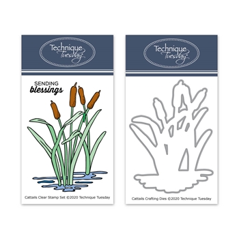 Technique Tuesday CATTAILS Clear Stamps and Dies 8711