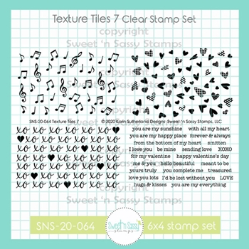 Sweet 'N Sassy TEXTURE TILES 7 Clear Stamp Set sns20064