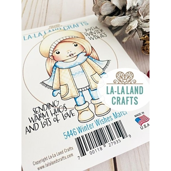 La-La Land Crafts Cling Stamps WINTER WISHES MARCI 5446