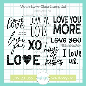 Sweet 'N Sassy MUCH LOVE Clear Stamp Set sns20066