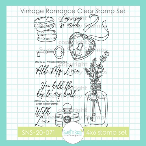 Sweet 'N Sassy VINTAGE ROMANCE Clear Stamp Set sns20071* Preview Image