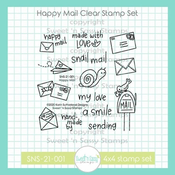 Sweet 'N Sassy HAPPY MAIL Clear Stamp Set sns21001