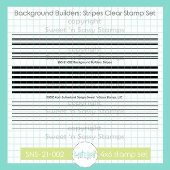 Sweet 'N Sassy BACKGROUND BUILDERS STRIPES Clear Stamp Set sns21002