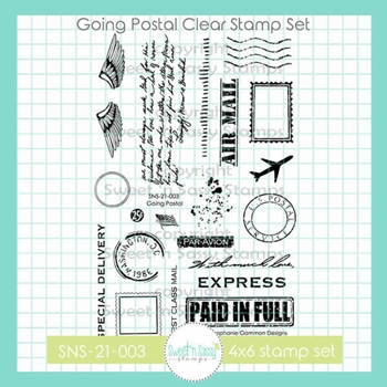 Sweet 'N Sassy GOING POSTAL Clear Stamp Set sns21003