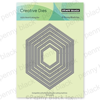Penny Black HEXAGON FRAMES Thin Metal Creative Dies 51 640