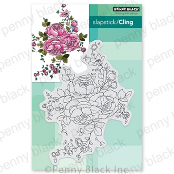 Penny Black Cling Stamp ROSE DANCE 40 678