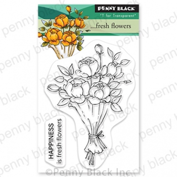 Penny Black Clear Stamps FRESH FLOWERS 30 795