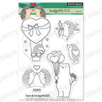 Penny Black Clear Stamps HEDGEHUGS 30 794
