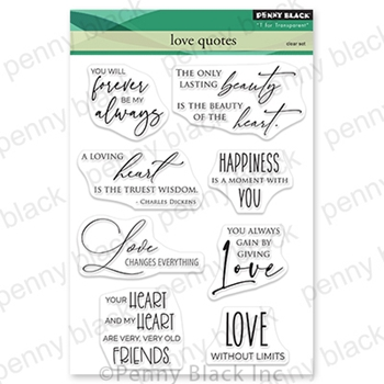 Penny Black Clear Stamps LOVE QUOTES 30 792