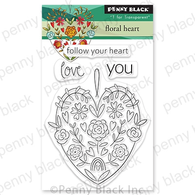 Penny Black Clear Stamps FLORAL HEART 30 790 zoom image