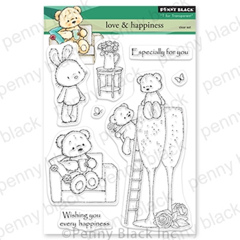 Penny Black Clear Stamps LOVE AND HAPPINESS 30 789