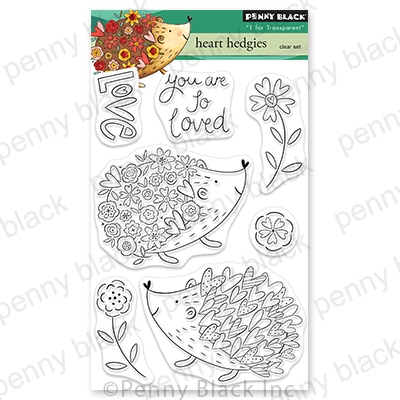 Penny Black Clear Stamps HEART HEDGIES 30 784 zoom image