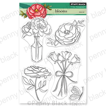 Penny Black Clear Stamps BLOOMS 30 679
