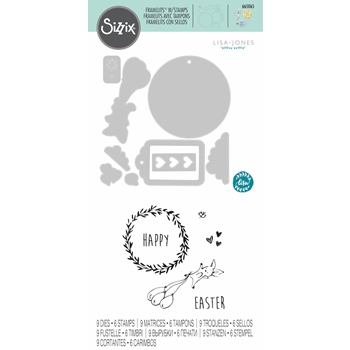 Sizzix EASTER FUN Framelits Die and Stamp Set 665065