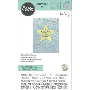 Sizzix CELESTIAL Impresslits Cut and Emboss Folder 665109