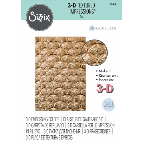 Sizzix Textured Impressions ART DECO 3D Embossing Folder 664507 Preview Image