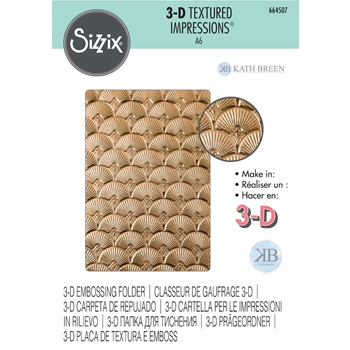 Sizzix Textured Impressions ART DECO 3D Embossing Folder 664507