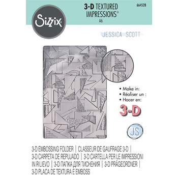 Sizzix Textured Impressions DOODLE TRIANGLES 3D Embossing Folder 664528*
