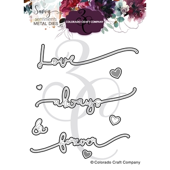 Colorado Craft Company Savvy Sentiments ALWAYS AND FOREVER Dies SS4422 D