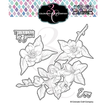 Colorado Craft Company Big and Bold THINKING OF YOU MAGNOLIAS Dies BB425 D
