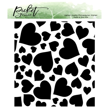 Picket Fence Studios FALLING HEARTS Clear Stamp bb160*