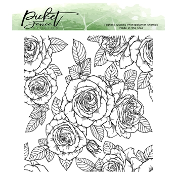 Picket Fence Studios ROSES FOR ALL SEASONS Clear Stamp f147